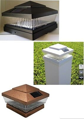 8-Pack Garden Black/Copper/White 6 X 6 Solar 5 LED 78Lumens Post Cap Lights