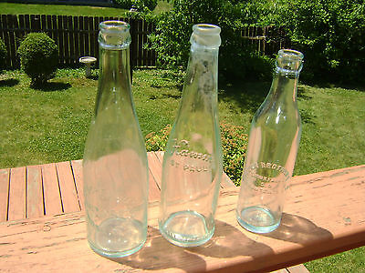 Lot of Three Antique Bottles. Two Beer Bottles and One Soda Bottle.