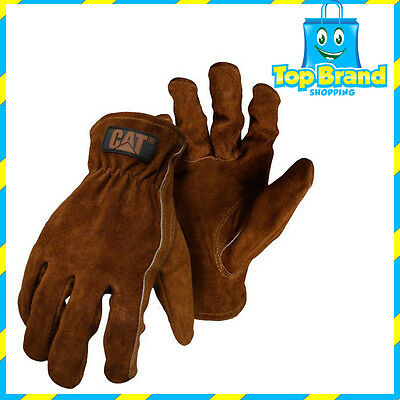 Caterpillar CAT Full Grain Cow Leather Rigger Work Safety Truckie Glove