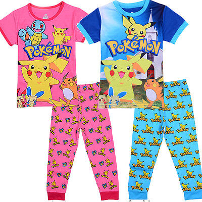 new Boys Girls POKEMON Pikachu pjs pyjamas kids clothing size 2-12 in AU