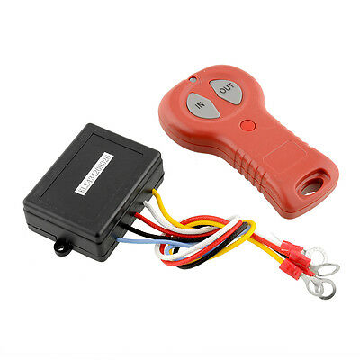 Wireless Winch 12V DC 50ft Remote Control Switch Handset For Car Black+Red