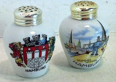 Vintage Porcelain Hamburg Hummel Souvenir Salt and Pepper Shakers, Brac (4190)