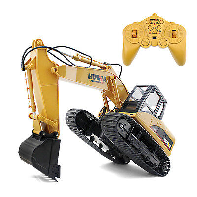 15-channel remote excavator alloy Ver.2.4G R/C Child  Toy Gifts Rechargeable