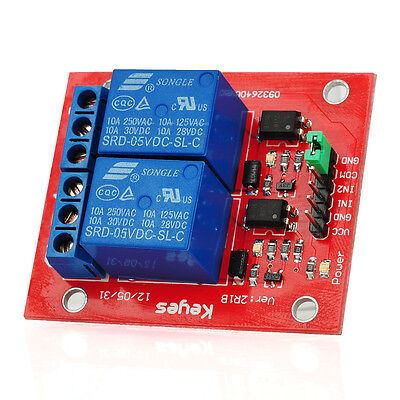 2-Channel TTL Circuit Board Relay Module for Arduino Microcontroller Experiment
