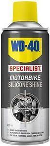 WD40 Total Specialist Motorcycle Motorbike Cleaning Silicone Shine - 400ml