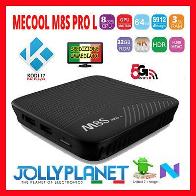 Mecool M8S Pro L Android 7.1 3gb 32gb Octa-Core Smart TV Box 4K WiFi