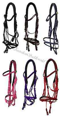 PVC Bridle with Rubber Reins