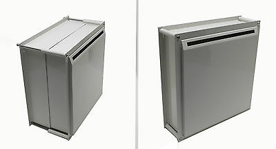 Adjustable Thickness Through-The-Wall Letter/Payment Locking Drop Box 15958