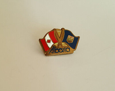 Canadian and Alberta Flag Lapel Hat Collectible Pin