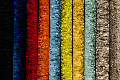 Plain Woven Chenille Fabric by the metre- Curtain and Craft Fabrics by McAlister