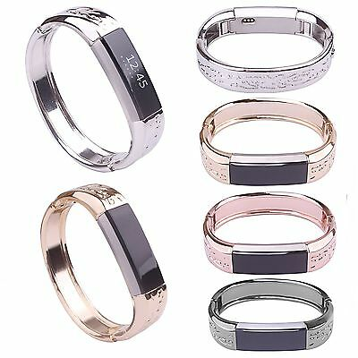 Jewelry Flower Stainless Wrist Band Strap Bracelet Bangle For Fitbit Alta & HR