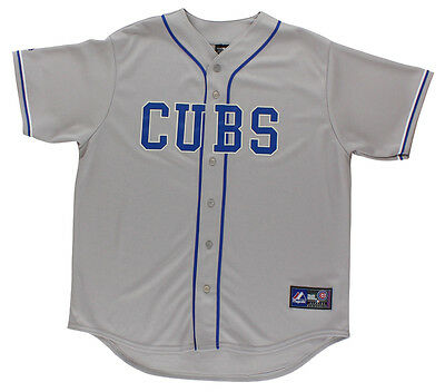 Majestic Chicago Cubs Baseball Jersey Grey XL