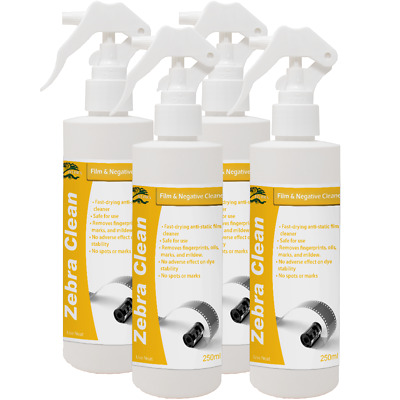 HYDRA ZEBRA CLEANER Photo Film Negative Cleaner 4x250ml Photo Emulsion Remover