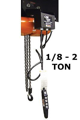 Cmco - Series 635 Motor Driven Trolley - 1/8 Ton - 2 Ton Capacity, 30 Fpm