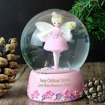 Personalised Fairy Snow Globe Christmas Gift Idea For Her Birthday Present