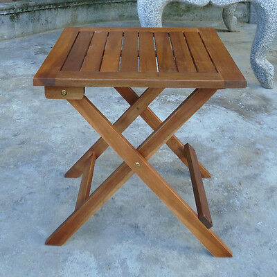 Square Wooden Folding Table For Garden & Patio (46cm)