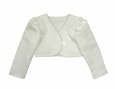Girls Baby Long Sleeve Cardigan Wedding Formal Christening Dress Bolero Shrug