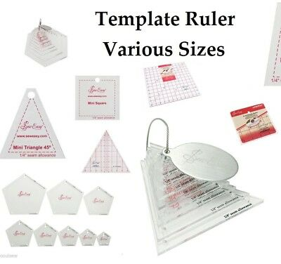 Sew Easy Mini Quilting Patchwork Quilters Craft Template Ruler Various Sizes