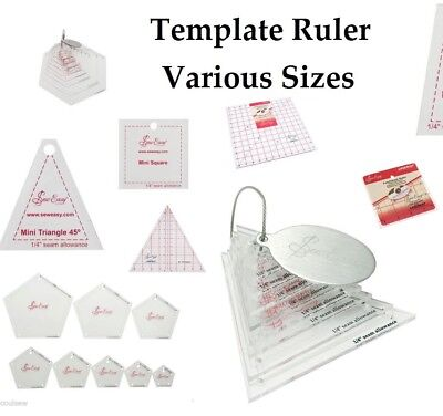 Sew Easy Quilting P​atchwork Rule Quilters Craft Template Ruler Various Sizes
