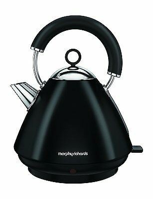 Morphy Richards Accents Black Pyramid 1.5 Litre Kettle 3kW S/Steel 102030