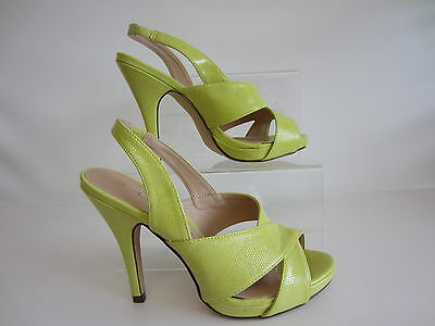 Anne Michelle F10411 Ladies Shoes Yellow UK Sizes 3 x 8 (17B)