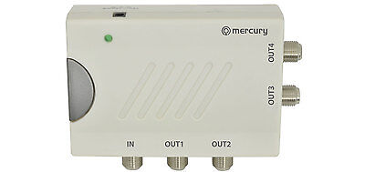 4-Way TV Distribution Amplifier with DC Pass  television amp digital DAB 130.035