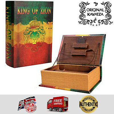 Original Kavatza Deluxe Wooden Portable Rolling Box Book - King of Zion - Large