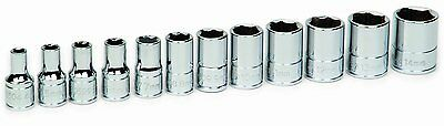 "Williams 30926 1/4"" Drive Shallow Socket Set 6 Point 12 Piece METRIC"
