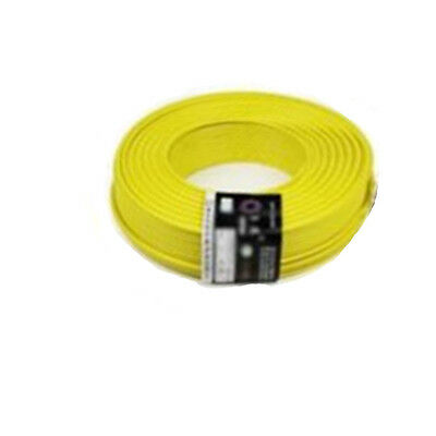 Yellow 10M UL-1007 24AWG Hook-up Wire 80°C / 300V Cord DIY Electrical NEW