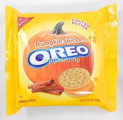 NEW! OREO PUMPKIN SPICE Sandwich Cookies Nabisco Limited Edition 10.7 Oz