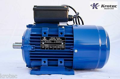 Electric motor single-phase 240v 0.75kw 1hp 2830rpm