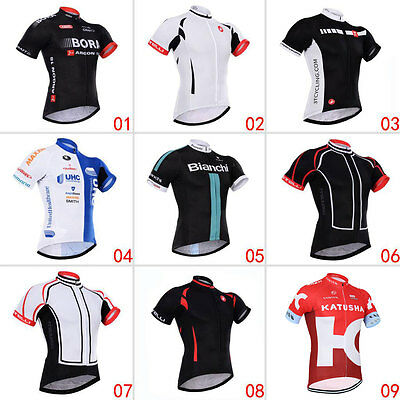 Fashion Mens Short Sleeve Jersey Tops Outdoor Sports Bike Cycling Bicycle Wear