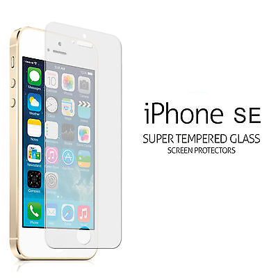 Apple iPhone SE 100% Tempered Glass Screen Protector Superb Genuine Quality