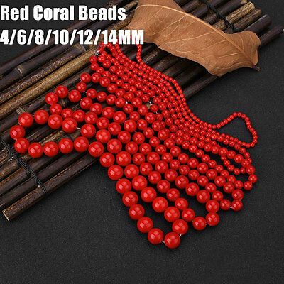 Red Coral Natural Stone Gemstone Jewellery Making Loose Beads Tools Kits