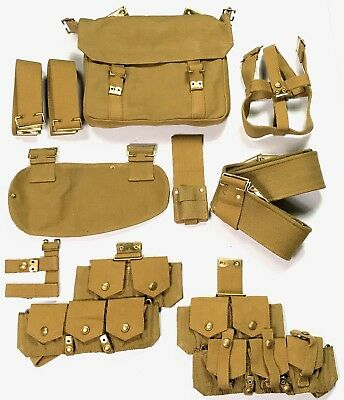 Wwi British Canadian Common Wealth Infantry P1908 P08 Webbing Equipment Set