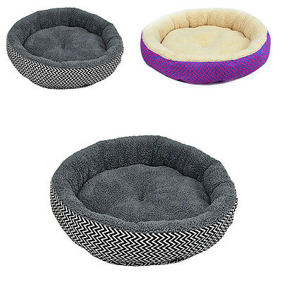 Fashion Warm Round Bed Soft Kitten Puppy House Pets Mat Sofa For Small Dogs