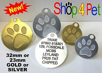 Pet ID Tag Quality Aluminium Dog & Cat Tags With Blackened or Standard Engraving
