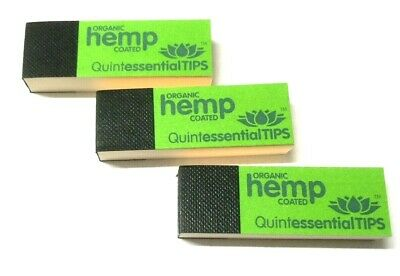 Quintessential Organic Hemp Coated Roach Tips Book Card Filter Rolling Smoking