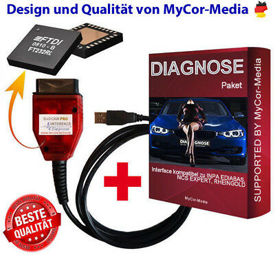 Diagnose Interface KDCAN für BMW MINI INPA NCS Expert Rheingold Software u. APPS