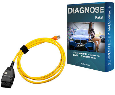 BMW F-Modelle Ethernet Interface Diagnose INPA E-SYS Rheingold ISTA + Software