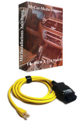 BMW F- Serie Ethernet Interface Diagnose INPA E-SYS Rheingold ISTA + Software