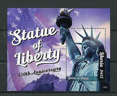 Liberia 2016 MNH Statue of Liberty 130th 1v S/S I New York Architecture Stamps