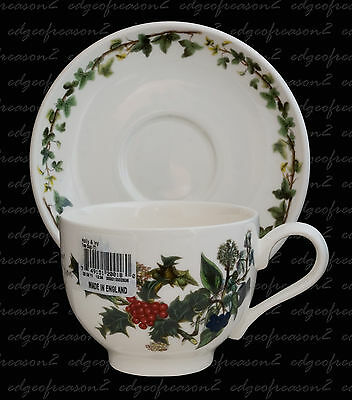 Portmeirion The Holly And The Ivy Tea  Cup And Saucer