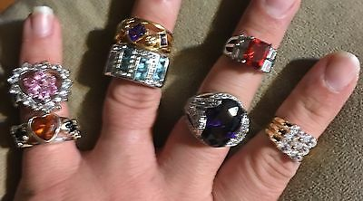 Wholesale Lot Of 100 Swarovski Crystal GP Rings Great For Resale New Never Worn
