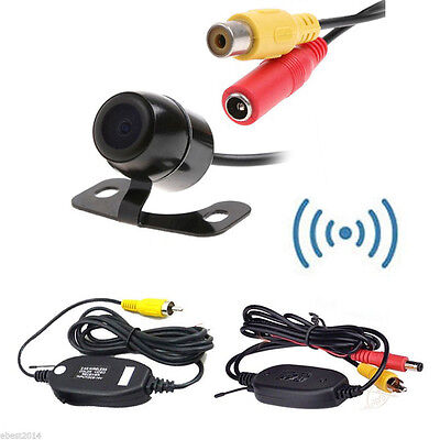 CCD Car Parking Camera + 2.4Ghz Wireless Rear View Video Transmitter & Receiver