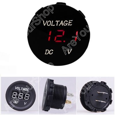 12V-24V Car Motorcycle LED Digitalanzeige Voltmeter Socket Gauge Meter Red
