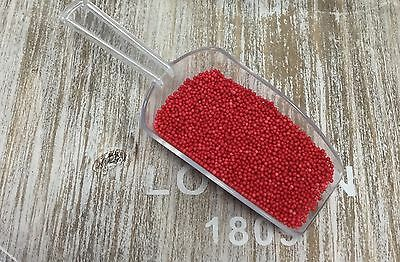 Edible Bright Red Sugar Balls Hundred and Thousands Cake Decorations Sprinkles