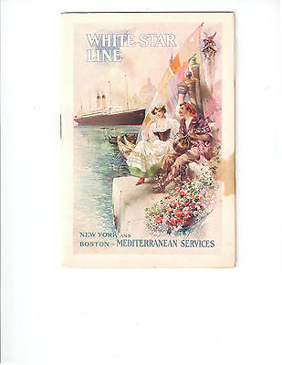 R.M.S. Cedric Passenger List 1913 Mentions Olympic And Britannic