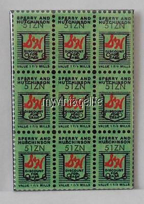 "Vintage S&H GREEN STAMPS 2"" x 3"" Fridge MAGNET art Nostalgic"