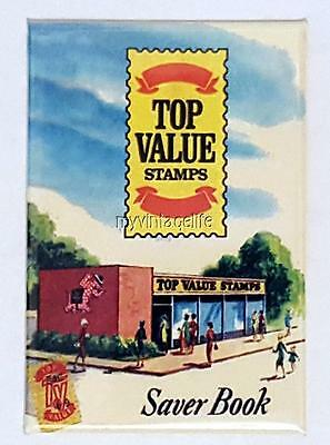"Vintage Top Value YELLOW STAMPS 2"" x 3"" Fridge MAGNET art Nostalgic"